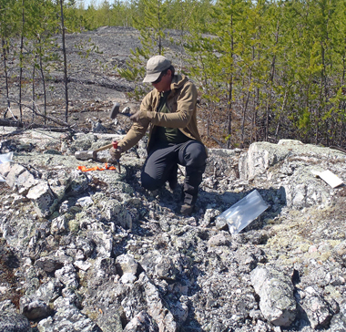 Lithium-tantalum sampling, new pegmatite discove...
