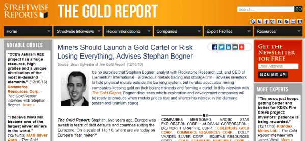 Miners Should Launch a Gold Cartel or Risk Losin...